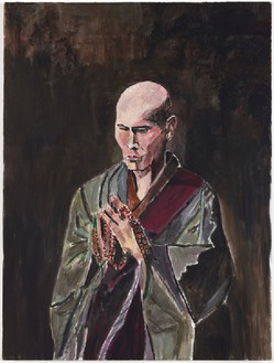 Bob Dylan, The Monk, 2009 Acrylic on canvas, 48 × 36 inches (121.9 × 91.4 cm)© Bob Dylan