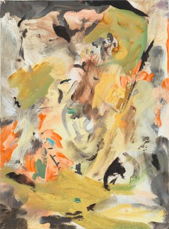 Cecily Brown, Untitled, 2009 Oil on linen, 17 × 12 ½ inches (43.2 × 31.8 cm)