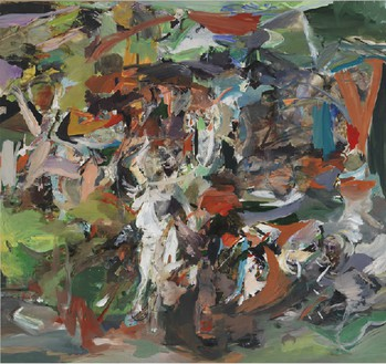 CECILY BROWN The Haunter, 2010 Oil on linen 97 × 103 inches (246.4 × 261.6 cm)