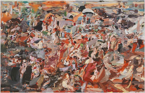 Cecily Brown, The Green, Green Grass of Home, 2010 Oil on linen, 97 × 151 inches (246.4 × 383.5 cm)
