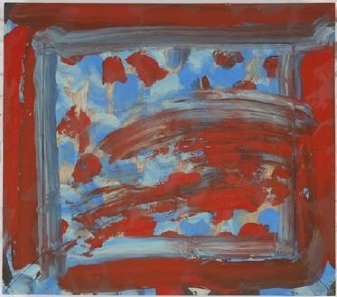 Howard Hodgkin, Flowers, 2011 Oil on wood, 25 ¼ × 28 ¾ inches (64.1 × 73 cm)© Howard Hodgkin Estate