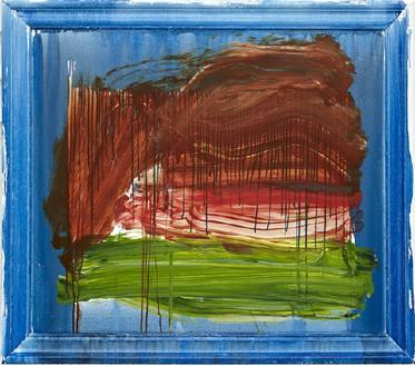 Howard Hodgkin, Knightsbridge, 2009–11 Oil on wood, 40 ½ × 46 ⅝ inches (103 × 118.4 cm)© Howard Hodgkin Estate