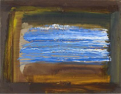 Howard Hodgkin, After Whistler, 2010 Oil on wood, 35 × 45 inches (88.9 × 114.3 cm)© Howard Hodgkin Estate