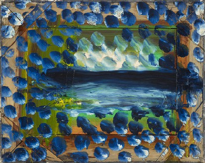 Howard Hodgkin, Dark Evening, 2011 Oil on wood, 20 ¾ × 26 inches (52.7 × 66 cm)© Howard Hodgkin Estate