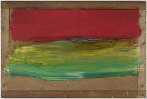 Howard Hodgkin, Red Sky at Night, 2001–11 Oil on wood, 38 × 57 ⅛ inches (96.5 × 145.1 cm)© Howard Hodgkin Estate