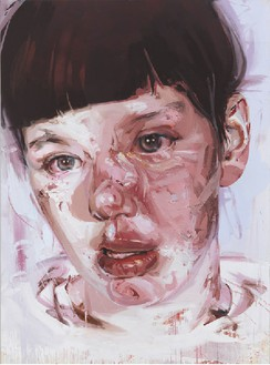 Jenny Saville, Red Stare Head IV, 2006–11 Oil on canvas, 99 ¼ × 73 ⅞ inches (252 × 187.5 cm)© Jenny Saville. Photo: Mike Bruce