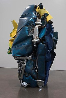 John Chamberlain, PEAUDESOIEMUSIC, 2011 Painted and chrome-plated steel, 134 ¼ × 88 ⅛ × 80 inches (341 × 223.8 × 203.2 cm)© Fairweather & Fairweather LTD/Artists Rights Society (ARS), New York