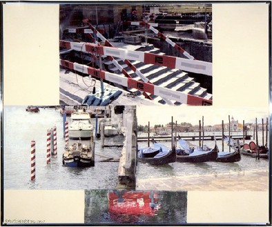 Robert Rauschenberg, New Venice, 2007 Pigment transfer on polylaminate, 61 × 73 ½ inches (154.9 × 186.7 cm)© 2011 The Robert Rauschenberg Foundation/Licensed by VAGA, New York