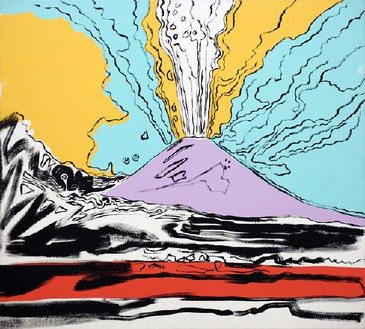 Andy Warhol, Vesuvius, 1985 Acrylic and serigraphy on canvas, 71 × 78 ⅞ inches (180.3 × 200.2 cm)© 2011 The Andy Warhol Foundation for the Visual Arts, Inc./Artists Rights Society (ARS), New York