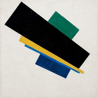 Kazimir Malevich, Suprematism, 18th Construction, 1915 Oil on canvas, 20 ⅞ × 20 ⅞ inches (53 × 53 cm)
