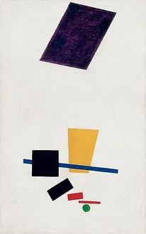 Kazimir Malevich, Painterly Realism of a Football Player—Color Masses in the 4th Dimension, 1915 Oil on canvas, 27 ½ × 17 ⅜ inches (70 × 44 cm)The Art Institute of Chicago, through prior gift of Charles H. and Mary F. S. Worcester Collection; Art Institute of Chicago Acquisition Funds, 2011.1