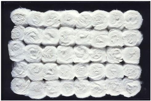 Piero Manzoni, Achrome, 1961–62 Cotton wool, 15 ½ × 18 ½ inches (39.4 × 47 cm)