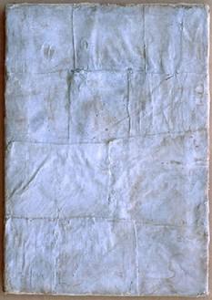 Piero Manzoni, Achrome, 1958–59 Canvas in square and kaolin, 13 13/16 × 9 13/16 inches (35 × 25 cm)