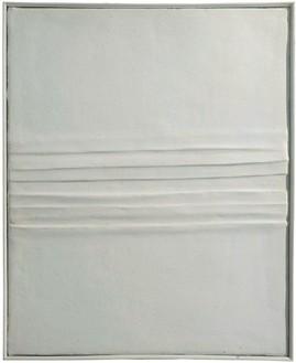 Piero Manzoni, Achrome, 1958–59 Kaolin and creased canvas, 21 11/16 × 17 11/16 inches (55 × 45 cm)