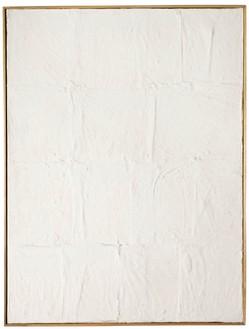 Piero Manzoni, Achrome, 1958–59 Canvas in square and kaolin, 31 ½ × 23 ⅝ inches (80 × 60 cm)
