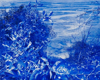 Mark Tansey, Apple Tree, 2008–09 Oil on canvas, 79 ½ × 100 inches (200.7 × 254 cm)The Museum of Fine Arts, Houston© Mark Tansey