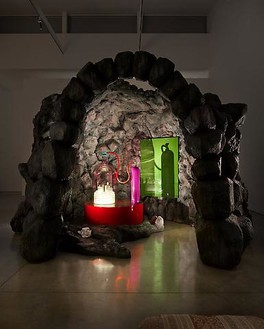 Mike Kelley, Kandor 10 A, 2010 Foam coated with Elastomer blown glass with water based resin coating, wood, Enamel Urethane rubber, acrylic paint, lighting fixtures, clothing and Lenticular 10, 11 × 16 × 12 feet overall (3.4 × 4.9 × 3.7 m)Photo by Fredrik Nilsen