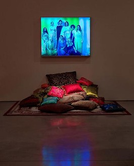 Mike Kelley, Harem Night Scene, 2010 EAPR #34 lenticular and pillows, Dimensions variablePhoto by Fredrik Nilsen