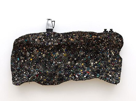 Mike Kelley, Memory Ware #61, 2010 Foam, tinted resin, found jewelry, coffee pot, plastic toys, 47 × 81 × 12 ½ inches overall (119.4 × 205.7 × 31.8 cm)Photo by Fredrik Nilsen
