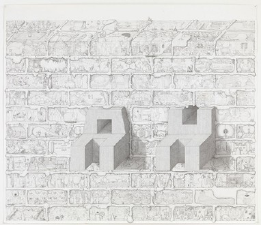 Paul Noble, Ah, 2010 Pencil on paper, 35 ⅜ × 41 5/16 inches (90 × 105 cm)