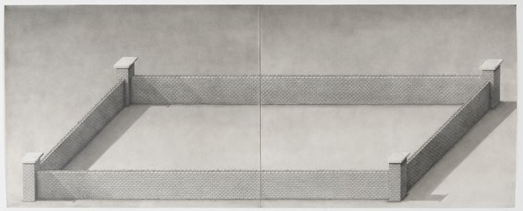 PAUL NOBLE Heaven, 2009 Graphite on paper 48 × 119 inches (121.9 × 302.3 cm)