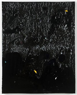 Piero Golia, Constellation Painting #6, 2011 Resin and debris, 60 × 48 × 3 ½ inches (152.4 × 121.9 × 8.9 cm)© Piero Golia, photo by Joshua White