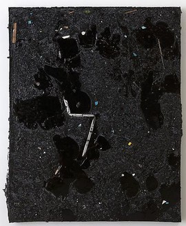 Piero Golia, Constellation Painting #2, 2011 Resin and debris, 60 × 48 × 3 ½ inches (152.4 × 121.9 × 8.9 cm)© Piero Golia, photo by Joshua White