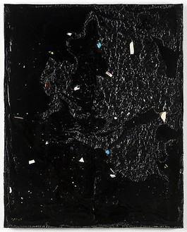 Piero Golia, Constellation Painting #4, 2011 Resin and debris, 60 × 48 × 3 ½ inches (152.4 × 121.9 × 8.9 cm)© Piero Golia, photo by Joshua White