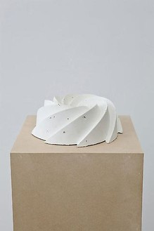Piero Golia, Untitled #12, 2011 Cast concrete, 3 ¾ × 9 ½ × 9 ½ inches (9.5 × 24.1 × 24.1 cm)© Piero Golia, photo by Joshua White