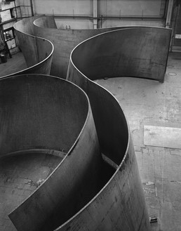 Richard Serra, Junction, 2011 Weatherproof steel, 13 feet ½ inch × 75 feet ½ inch × 49 feet 10 inches (4 × 22.9 × 15.2 m)© Richard Serra/Artists Rights Society (ARS), New York. Photo: Lorenz Kienzle