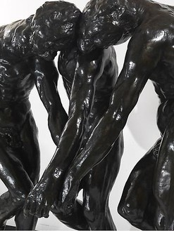 Auguste Rodin, The Three Shades, 1881–86 (detail) Bronze, 75 ½ x 75 ½ x 42 inches (191.8 x 191.8 x 106.7 cm), cast 4/8