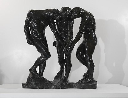 Auguste Rodin, The Three Shades, 1881–86 Bronze, 75 ½ × 75 ½ × 42 inches (191.8 × 191.8 × 106.7 cm), cast 4/8