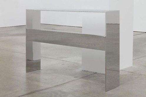Roe Ethridge, Bookshelf, 2011 Stainless steel, 32 × 47 ½ × 9 ½ inches (81.3 × 120.7 × 22.9 cm)