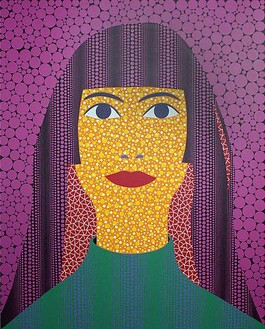 Yayoi Kusama, SELF PORTRAIT (TWAY), 2010 Acrylic on canvas, 89 ½ × 71 ⅝ inches (227.3 × 181.8 cm)