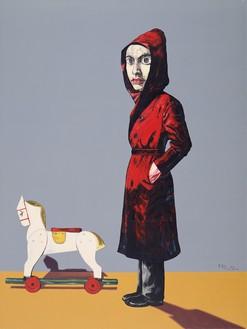 Zeng Fanzhi, Portrait, 2004 Oil on canvas, 78 ¾ × 59 ⅛ inches (200 × 150 cm)© Zeng Fanzhi Studio