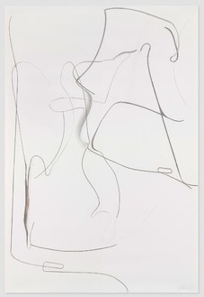 Albert Oehlen, Untitled, 2012 Charcoal on paper, 118 ⅛ × 78 ¾ inches (300 × 200 cm)© Albert Oehlen