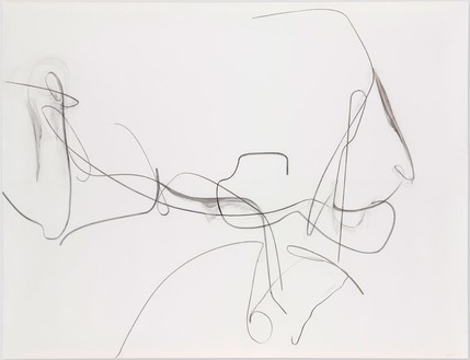 Albert Oehlen, Untitled, 2012 Charcoal on paper, 78 ¾ × 106 ¼ inches (200 × 270 cm)© Albert Oehlen