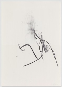 Albert Oehlen, Untitled, 2010 Charcoal on paper, 39 ⅜ × 27 ⅝ inches (100 × 70 cm)© Albert Oehlen
