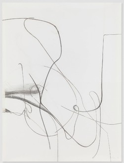 Albert Oehlen, Untitled, 2012 Charcoal on paper, 78 ¾ × 59 ⅛ inches (200 × 150 cm)© Albert Oehlen