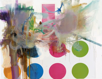 Albert Oehlen, Untitled, 2009–11 Oil and paper on canvas, 862 ¾ × 106 ⅜ inches (210 × 270 cm)© Albert Oehlen