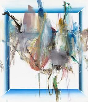 Albert Oehlen, FM 53, 2008–11 Oil and paper on canvas, 86 ⅝ × 74 ⅞ inches (220 × 190 cm)© Albert Oehlen