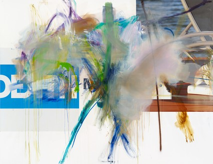 Albert Oehlen, Untitled, 2009–11 Oil and paper on canvas, 82 ¾ × 106 ⅜ inches (210 × 270 cm)© Albert Oehlen