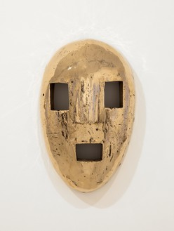 Sherrie Levine, Lego Mask, 2012 Cast bronze, 13 ¼ × 8 × 3 ¼ inches (33.7 × 20.3 × 8.3 cm), edition of 12© Sherrie Levine