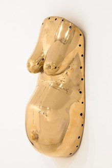Sherrie Levine, Body Mask, 2007 Cast bronze, 22 ½ × 9 ½ × 5 ¾ inches (57.2 × 24.1 × 14.6 cm), edition of 12© Sherrie Levine