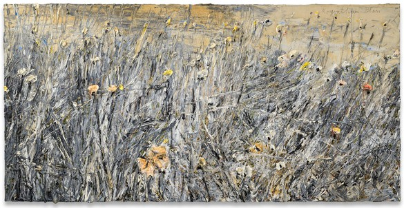 Anselm Kiefer, Morgenthau Plan, 2012 Oil, emulsion, and acrylic on photograph on canvas, 74 ¾ × 149 ⅝ inches (190 × 380 cm)© Anselm Kiefer