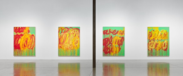 Installation view  Artwork © Cy Twombly Foundation. Photo: Douglas M. Parker Studio