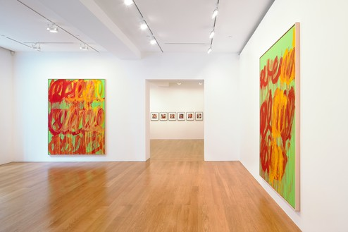 Installation view  Artwork © Cy Twombly Foundation. Photo: Martin Wong