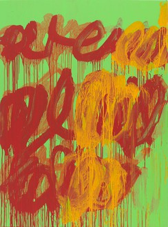 Cy Twombly, Untitled (Camino Real), 2011 Acrylic on wood panel, 99 ½ × 73 ¾ inches (252.7 × 187.3 cm)© Cy Twombly Foundation