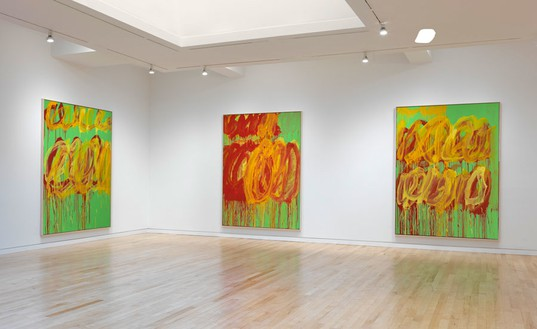 Installation view  Artwork © Cy Twombly Foundation. Photo: Rob McKeever