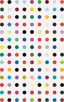 Damien Hirst, Moxisylyte, 2008–11 Household gloss on canvas, 81 × 51 inches (205.7 × 129.5 cm)© Damien Hirst and Science Ltd. All rights reserved, DACS 2012